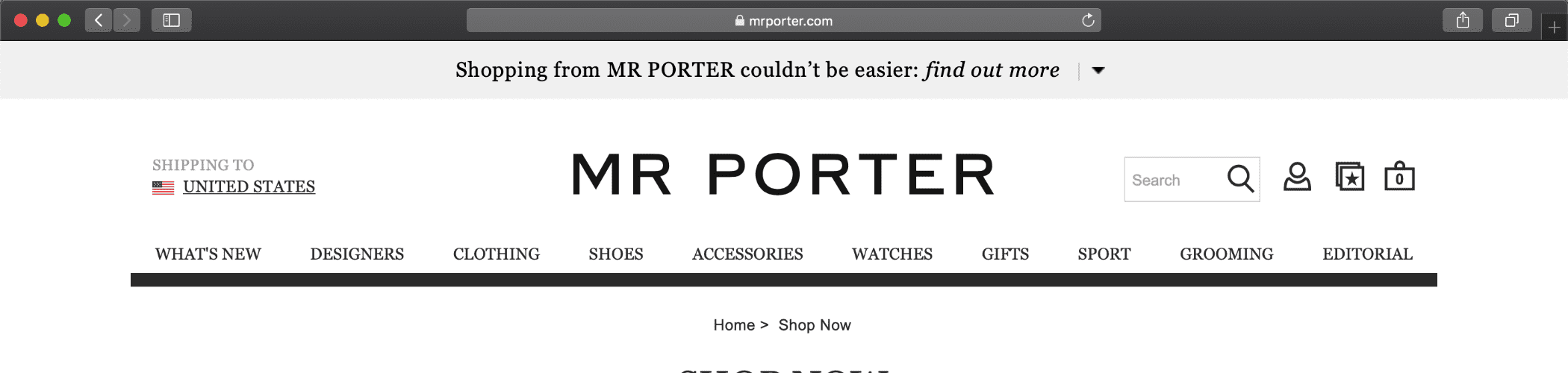 CLICK IMAGE TO BROWSE MR PORTER CYBER MONDAY DEALS