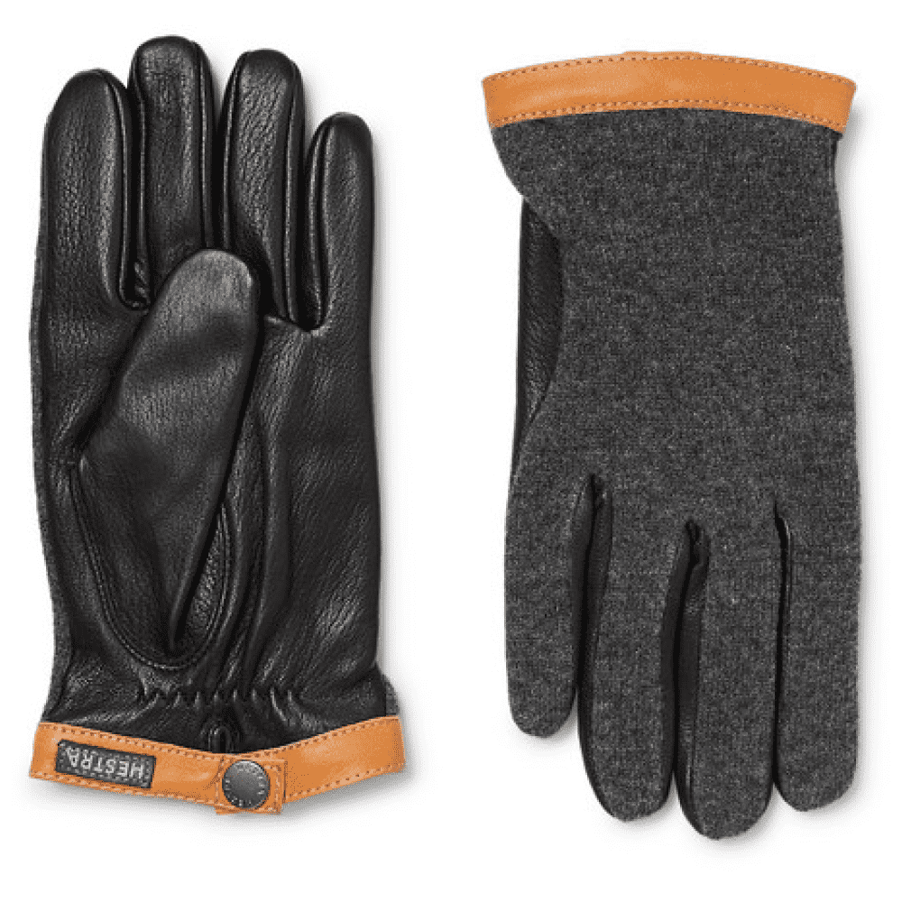 HESTRA LEATHER GLOVES - A really nice pair of gloves with a great color and fabric combo. A nice pair of leather gloves will last a lifetime with care.SELLOUT RISK: LOW MED HIGHPurchase now at mrporter.com for $115.00