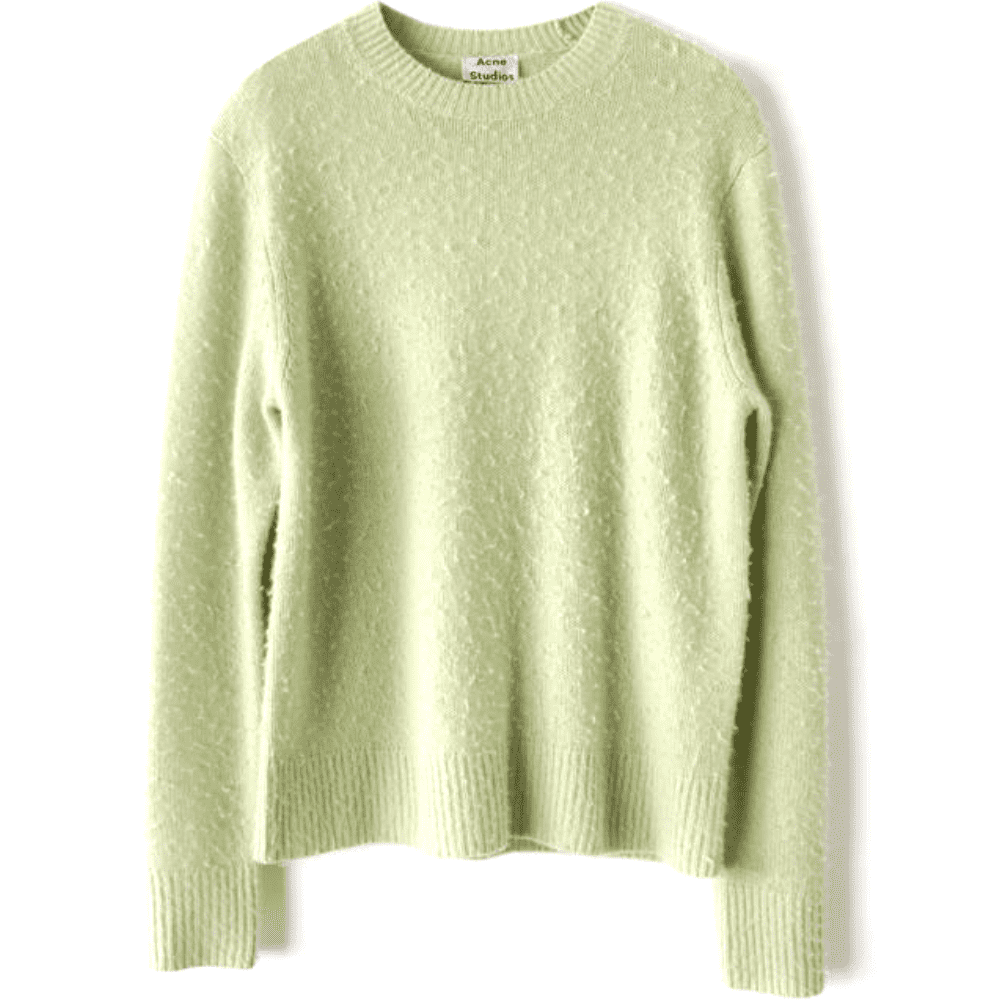 ACNE STUDIOS PEELE KNIT - Can't beat a beautiful and warm cashmere knit that comes in seven colors.SELLOUT RISK: LOW MED HIGHPurchase now at acnestudios.com for $480