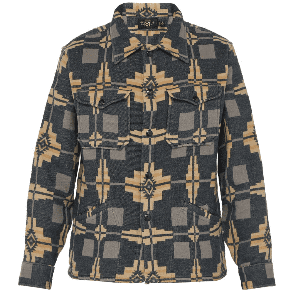 RRL JAQUARD SHIRT - This shirt/jacket scream RRL from a mile away and that's far from a bad thing.SELLOUT RISK: LOW MED HIGHPurchase now at matchesfashion.com for $332.00