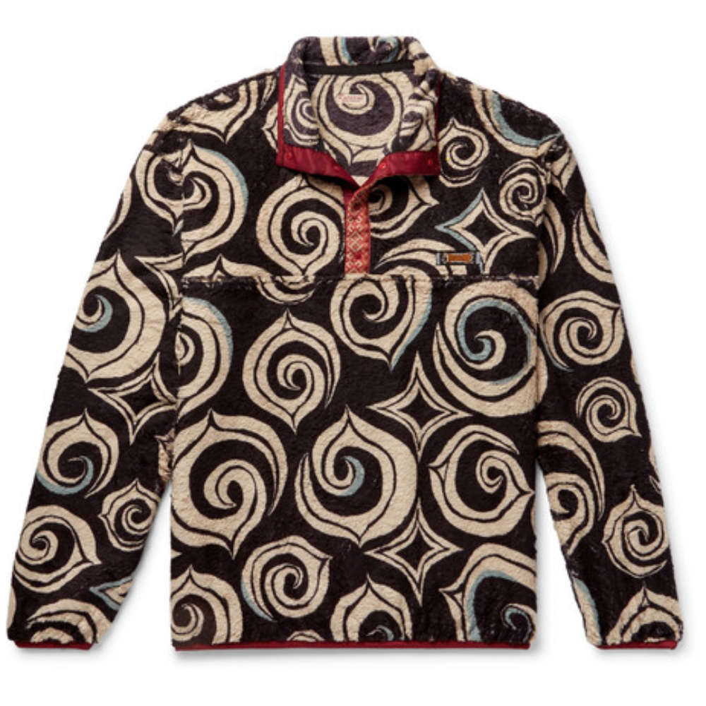 KAPITAL PRINTED FLEECE HALF-PLACKET - Simply the coolest fleece pullover I have seen and I've seen a lot - of fleece pullovers on the internet.SELLOUT RISK: LOW MED HIGHPurchase now at mrporter.com for $335.00