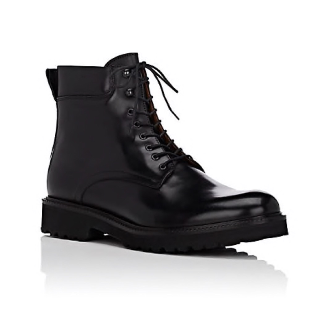BARNEYS NEW YORK LUG-SOLE BOOTS - Easily one of the nicest pairs of boots I've seen and at this price they're just too hard to pass on.SELLOUT RISK: LOW MED HIGHPurchase now at barneys.com for $310.00
