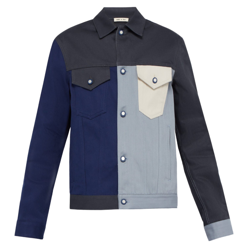 MARNI PANELED DENIM JACKET - A modern take on a classic garment. The colors are muted so you will be able to wear this with most if not all of your wardrobe.SELLOUT RISK: LOW MED HIGHPurchase now at matchesfashion.com for $850.00