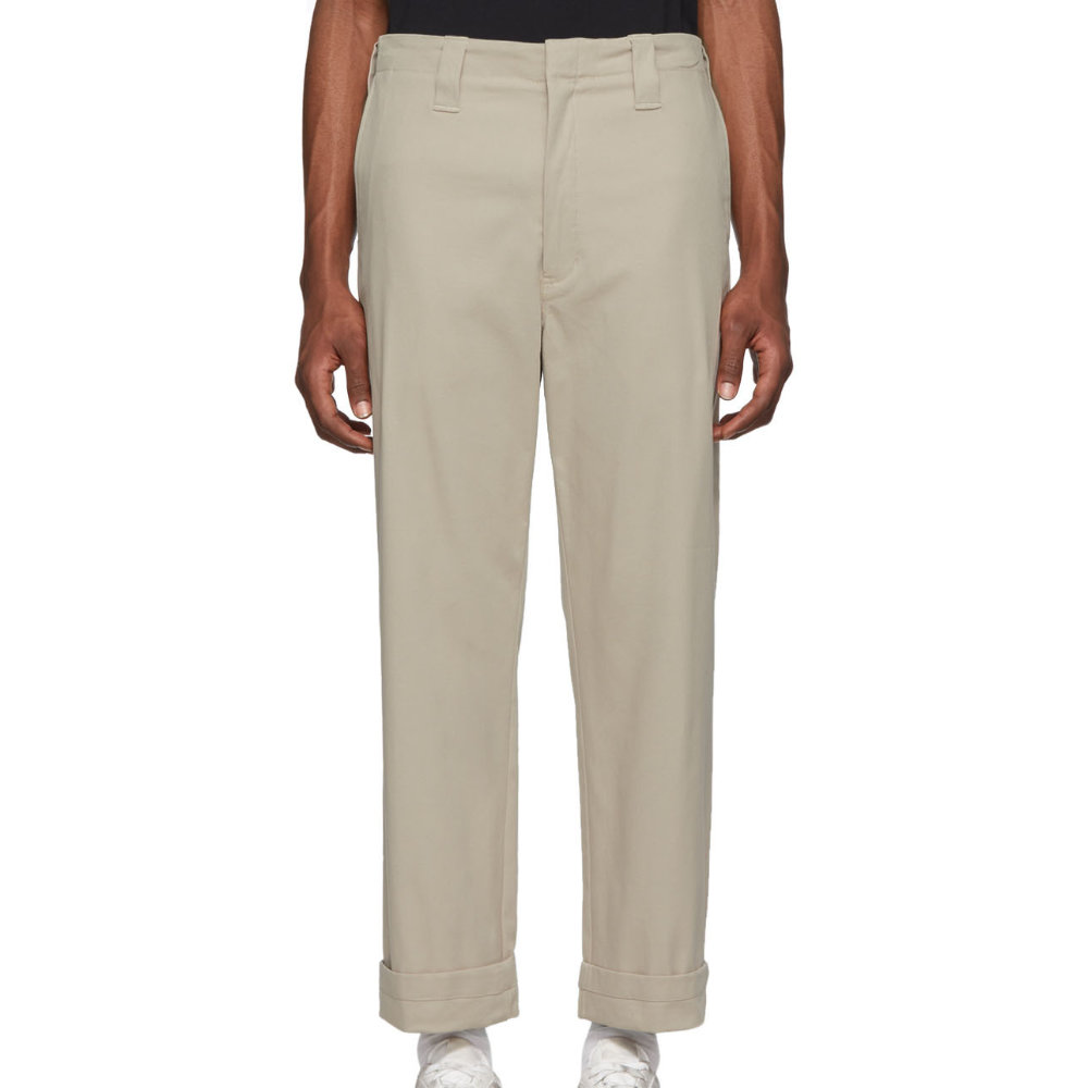 ACNE STUDIOS Grey Astym Trousers - Nobody does simple garments better than Acne Studios.SELLOUT RISK: LOW MED HIGHPurchase now at ssense.com for $250.00