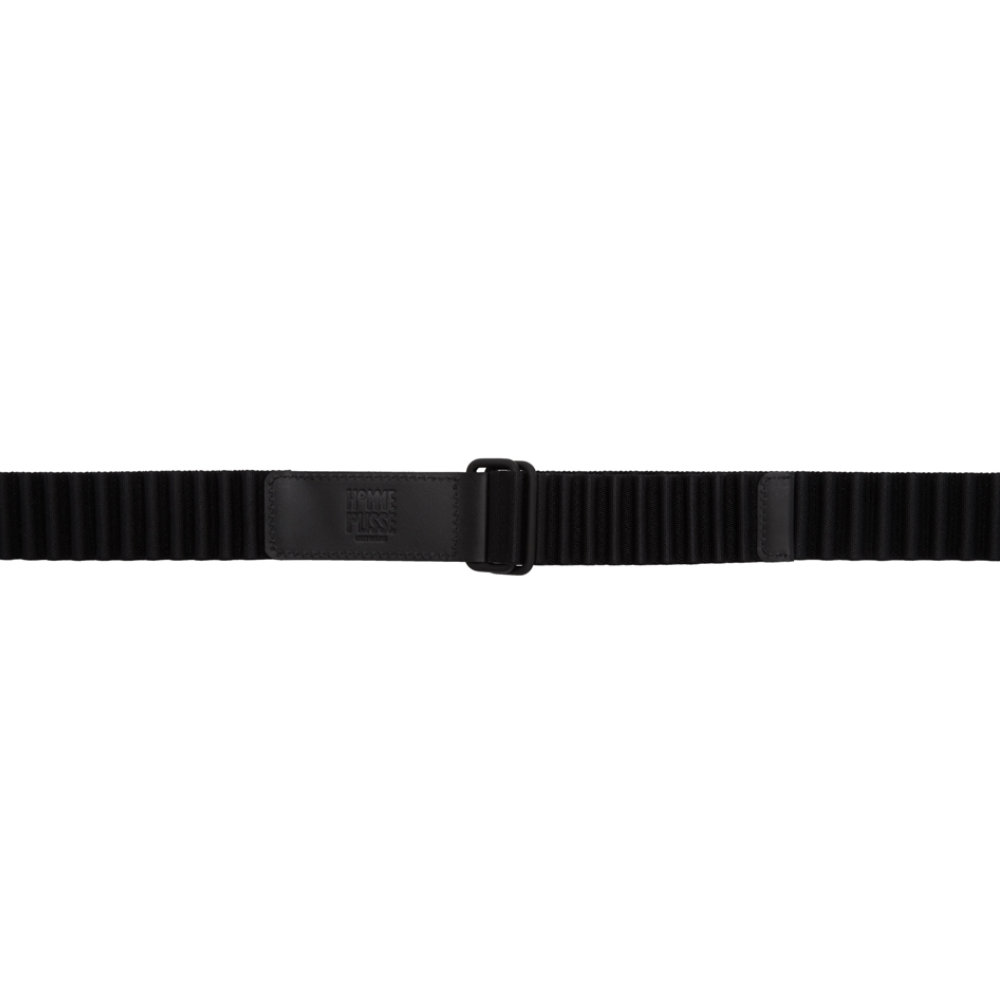 Issey MiyakeBlack Pleated Belt - A belt with a good mix of menswear and techwear.SELLOUT RISK: LOW MED HIGHPurchase now at ssense.com for $175.00