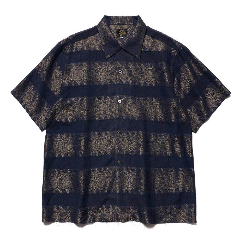 Needles-Cut-off-Bottom-SS-One-Up-Shirt-Jacquard-NAVY.jpg