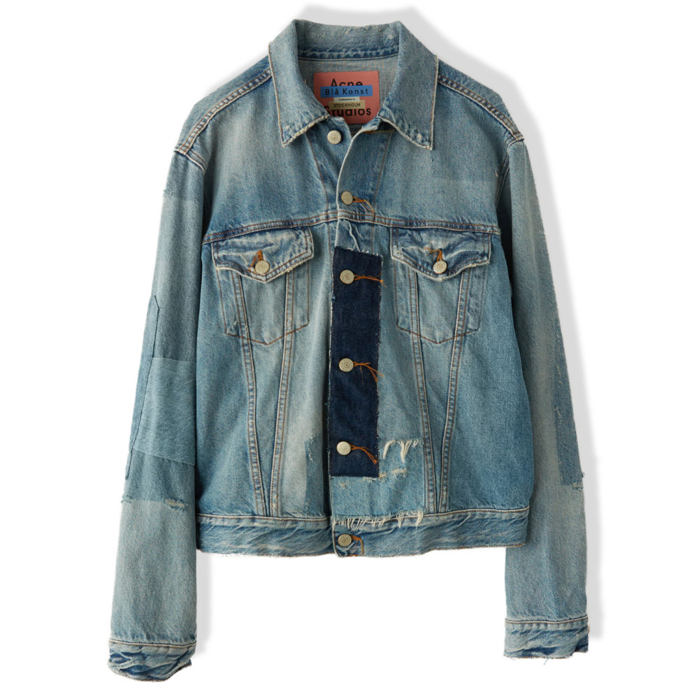 ACNE STUDIOS VINTAGE PATCH DENIM JACKET - This vintage styled denim jacket from Acne Studios is just too good. The patchwork, shades of denim, and cut is all on point.SELLOUT RISK: LOW MED HIGHPurchase now at acnestudios.com for $550.00