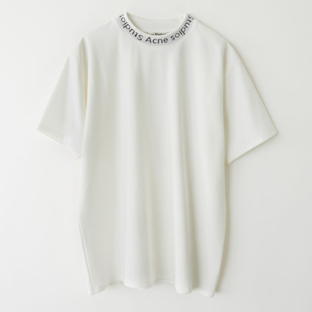 ACNE STUDIOS NAVID LOGO T-SHIRT - This is a perfect upgrade from your simple (but still necessary) white t-shirt. In a fantastic blend of viscose, nylon and elastic. Buy it and wear it with anything you would wear a simple plain white tee with.SELLOUT RISK: LOW MED HIGHPurchase now at acnestudios.com for $190.00