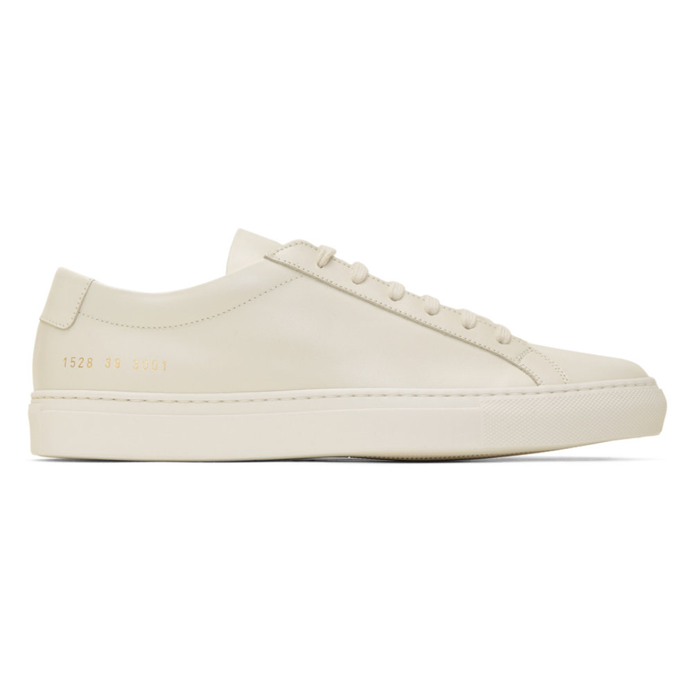 """COMMON PROJECTS CREAM ACHILLES - As I said before, """"Common Projects are the epitome of leather sneakers"""". This pair is cream colored, something a little different from the average white color that should add some nice subtle shades to your outfits.SELLOUT RISK: LOW MED HIGHPurchase now at ssense.com for $465.00"""