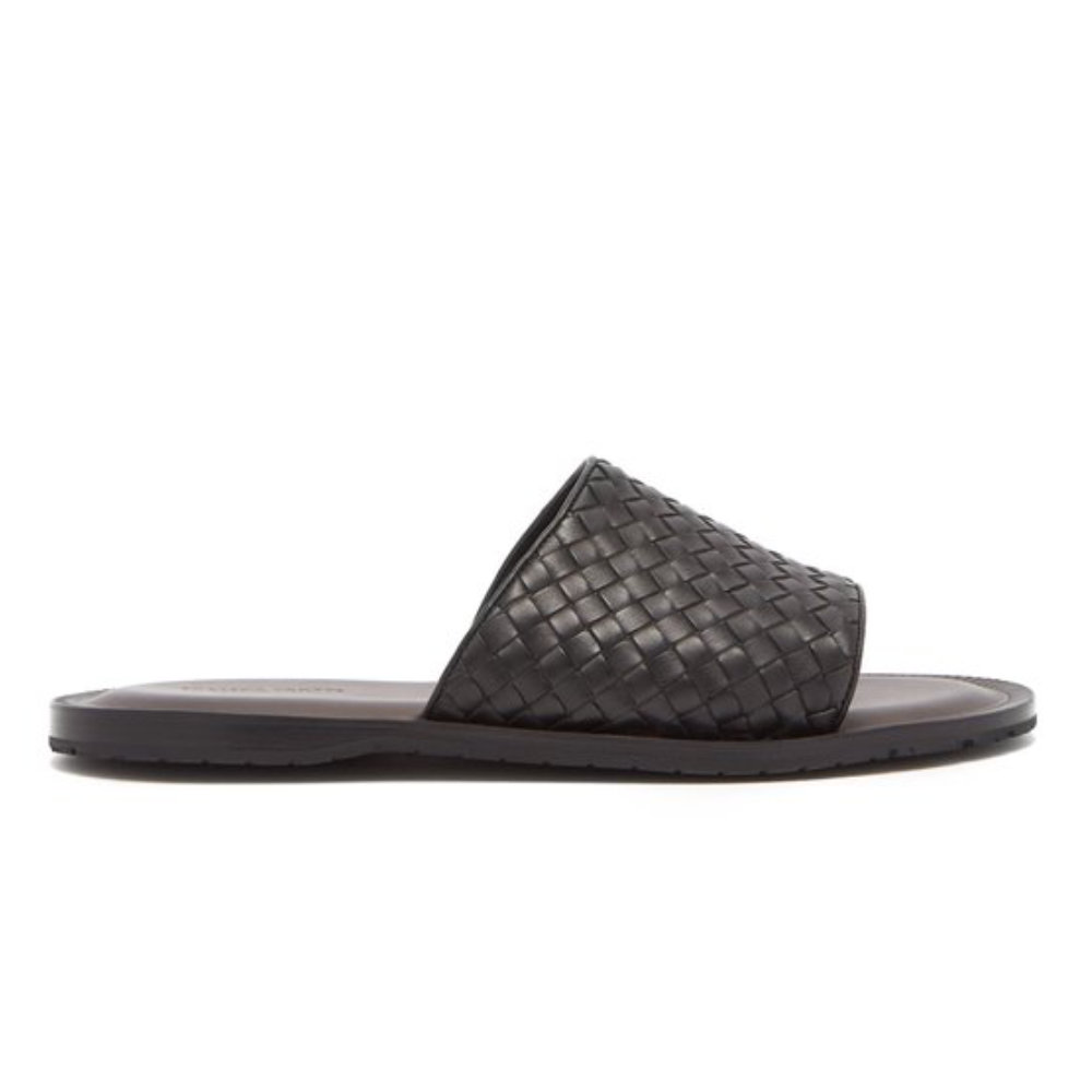 BOTTEGA VENETA Intrecciato slides - A more refined pair of slides.SELLOUT RISK: LOW MED HIGHPurchase now at ssense.com for $630.00