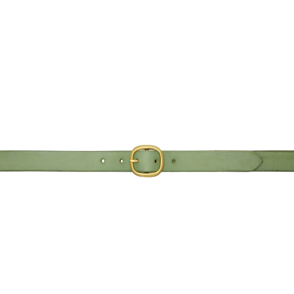 Maximum HenryGreen d Slim Belt - Just a well priced and constructed belt in a beautiful green color.SELLOUT RISK: LOW MED HIGHPurchase now at ssense.com for $115.00