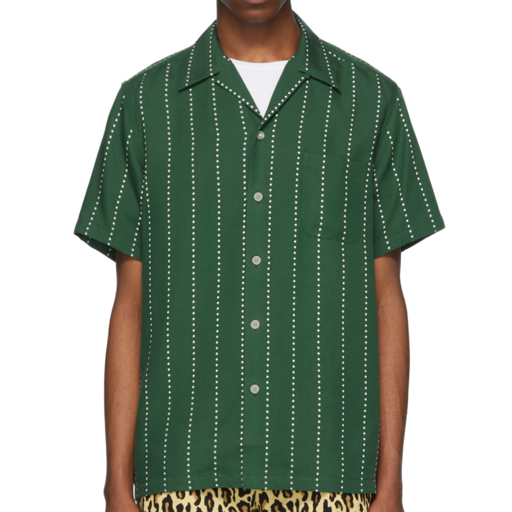 Wacko Maria HawAiian Shirt - Camp-collar shirts are an essential part of anyones wardrobe. Wacko Maria is not really known for subtle pieces but they have a few and when they do subtle they do it perfectly.SELLOUT RISK: LOW MED HIGHPurchase now at ssense.com for $340.00