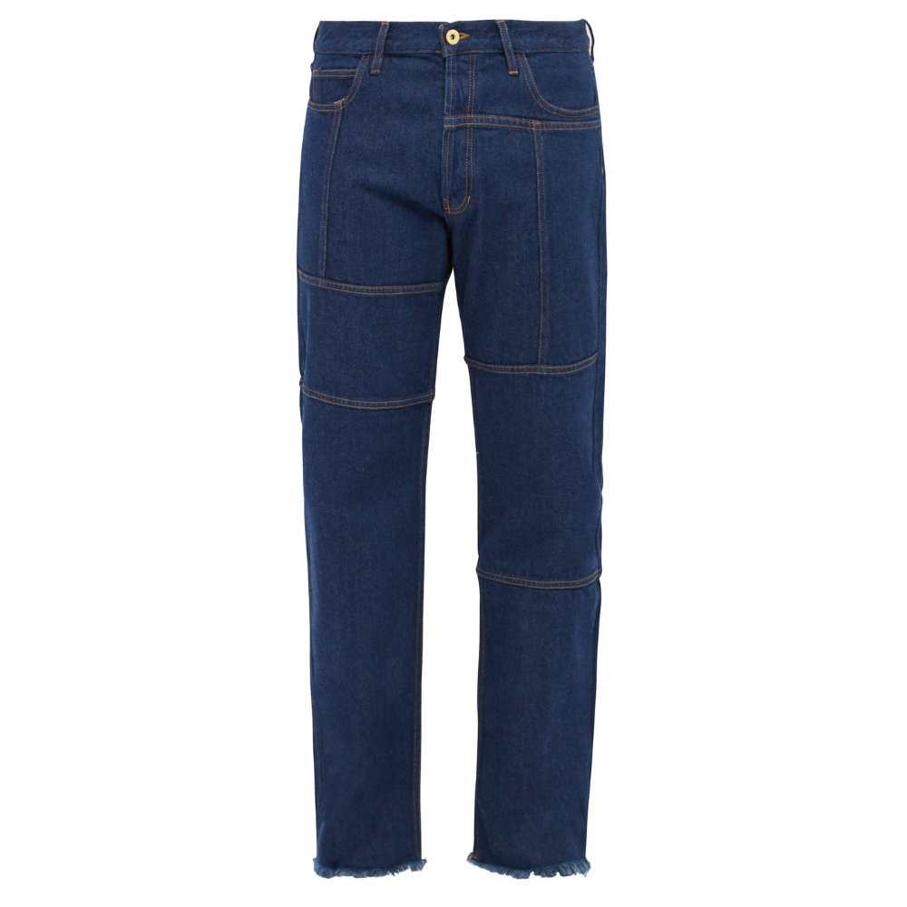 MARQUES'ALMEDIA Paneled straight-leG jeans - An updated style to classic blue jeans. Finish the unfinished hem, otherwise they're perfect.SELLOUT RISK: LOW MED HIGHPurchase now at matchesfashion.com for $550.00