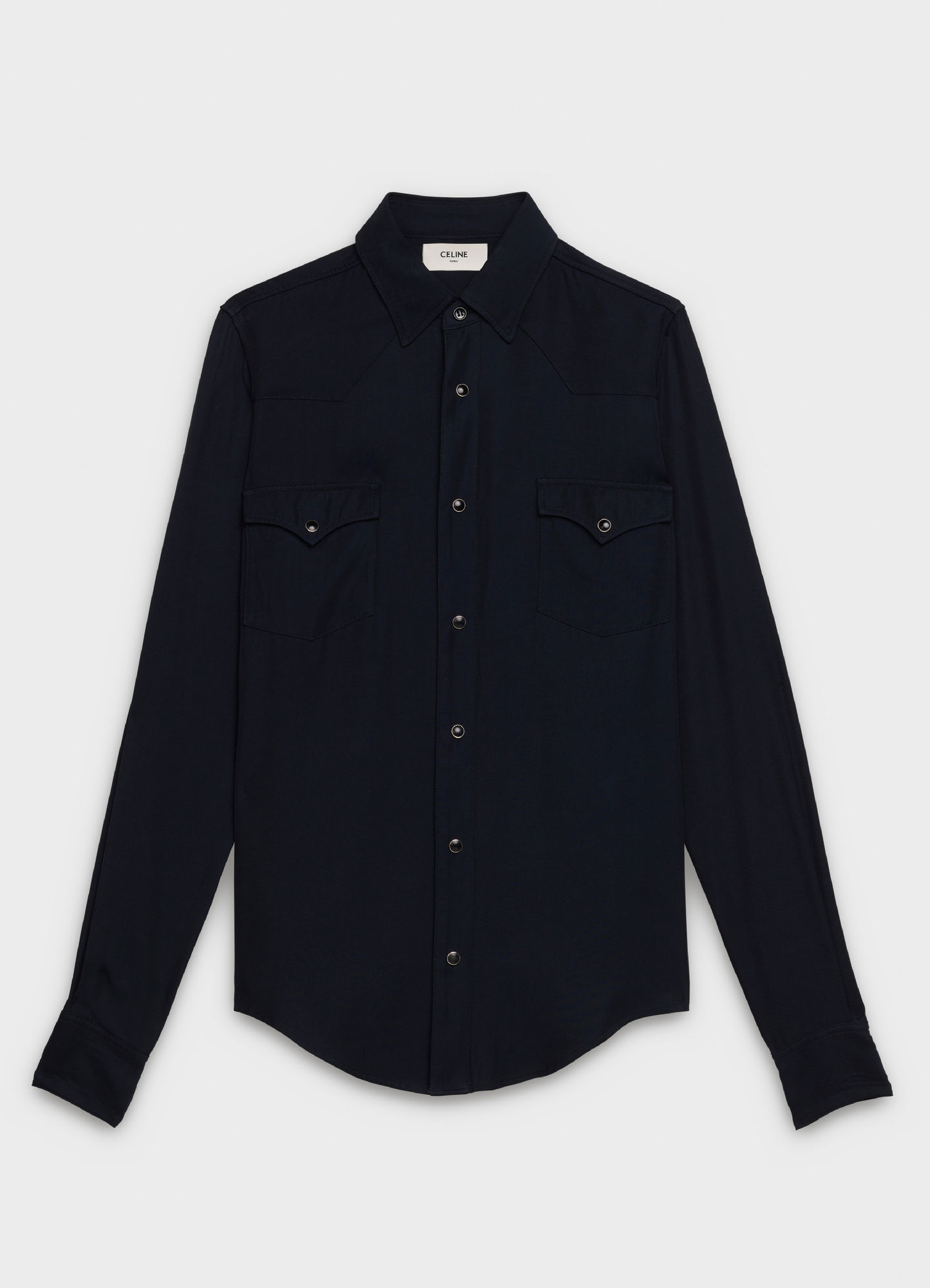 SKINNY WESTERN SHIRT IN TWILL WITH DRUGSTORE COLLAR   890 USD