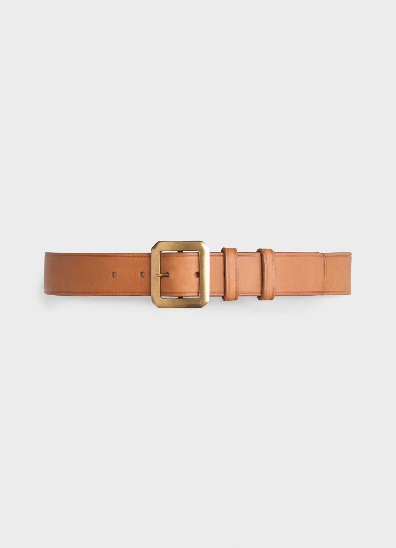 CEINTURON WITH SQUARE BUCKLE IN CALFSKIN   345 USD