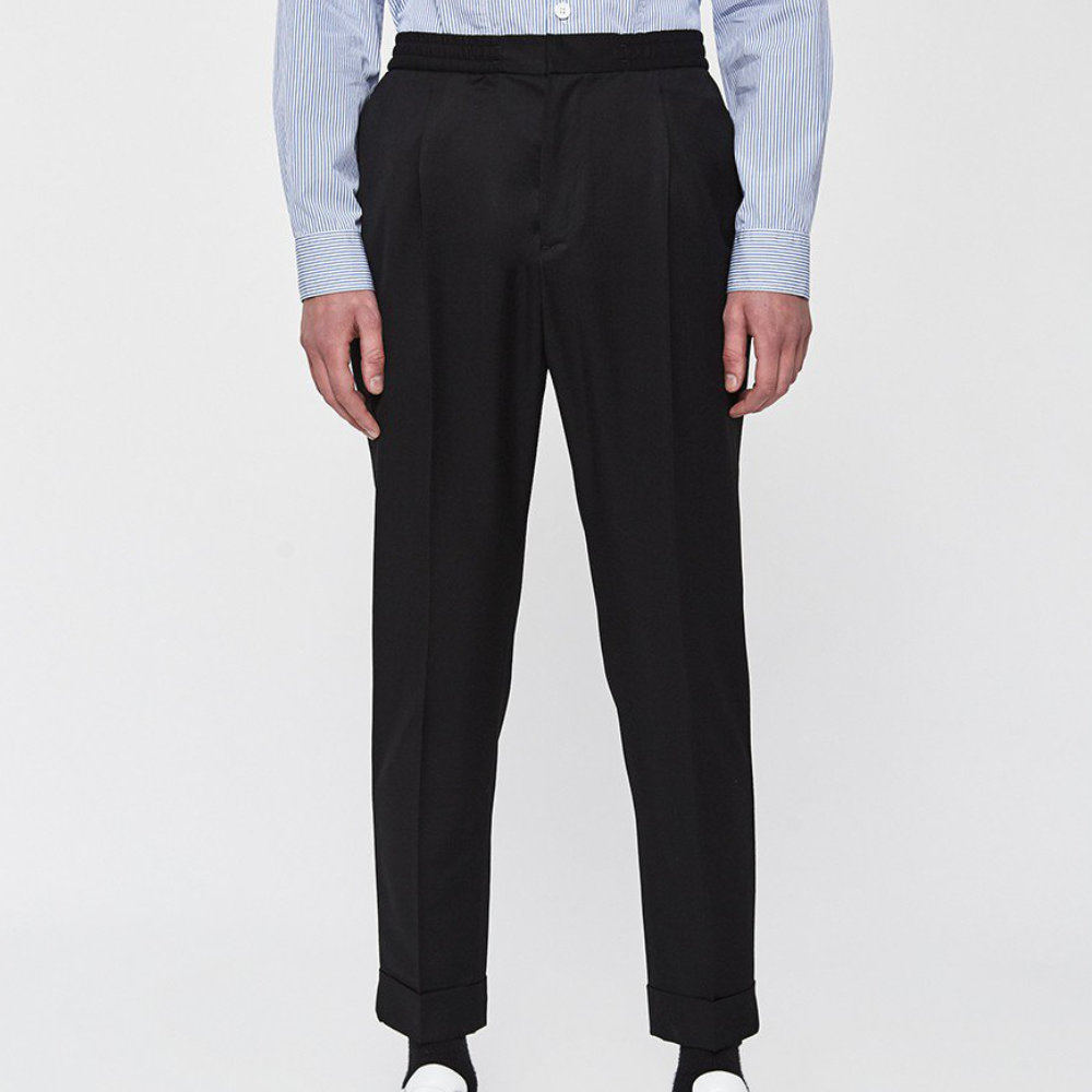 Officine Generale Drew Pant - The most mature version of the many iterations of elastic waist pants made with a blend of wool and mohair.SELLOUT RISK: LOW MED HIGHPurchase now at needsupply.com for $395.00