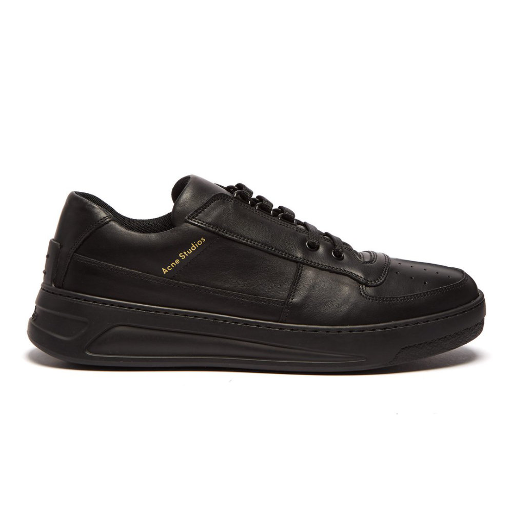 Acne Studios Black Leather Perry Sneaker - The quality, design, and silhouette make this shoe the perfect luxury sneaker.SELLOUT RISK: LOW MED HIGHPurchase now at matchesfashion.com for $380.00