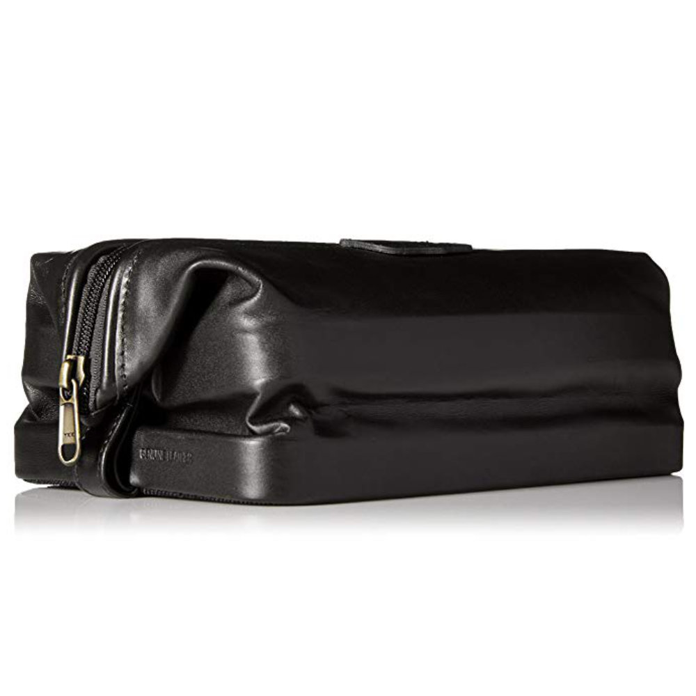 Dopp Leather Seasoned Traveler - Easily the best dopp kit you could own. Quality leather, collapsible top, and adequately priced.Purchase now at amazon.com for $51.80