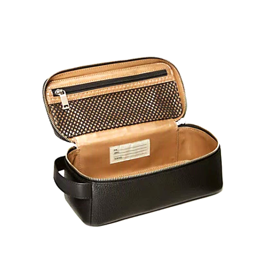 KATE SPADE pebbled leather dopp kit - A nice in-between of style and function.Purchase now at katespade.com for $128.00