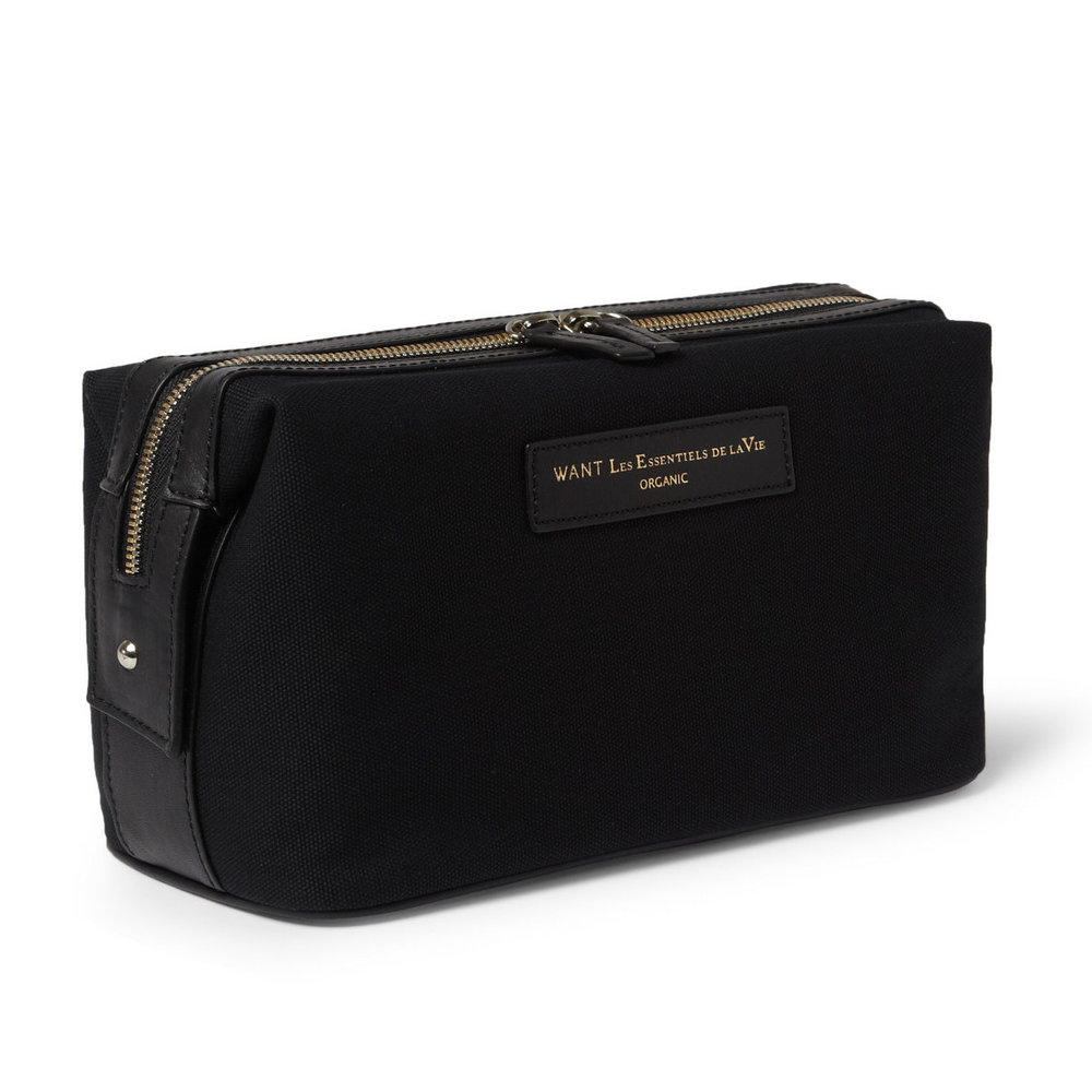WANT LES ESSENTIELS Canvas Wash Bag - This dopp kit has a little more style than function if that's what you're looking for this is for you.Purchase now at mrporter.com for $195.00