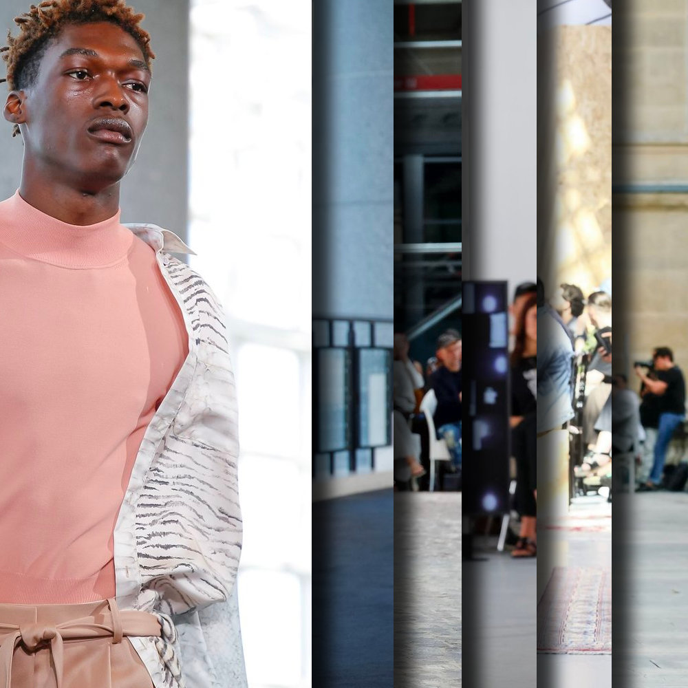 Favorite looks from the Runway at Paris Fashion Week, Spring Summer 2020. - Six of the best selected imagery from Sies Marjain, Hermes, Loewe, Sacai, GmbH, Dior Homme, Jil Sander, and Berluti.