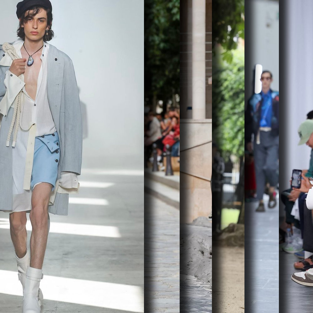 Favorite looks from the Runway at Paris Fashion Week, Spring Summer 2020. - Six of the best selected imagery from Ann Demeulemeester, Louis Vuitton, Rick Owens, Undercover, Homme Plisse Issey Miyake, Valentino, and OAMC.