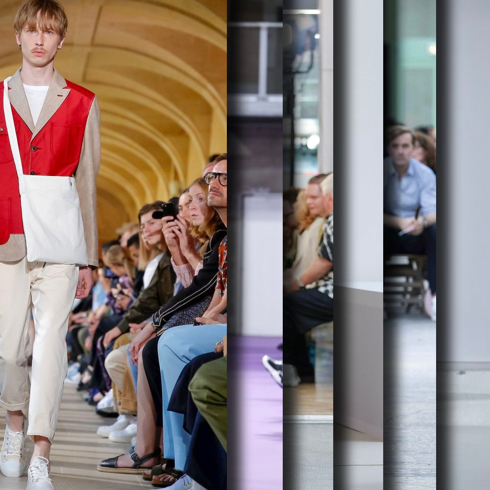 Favorite looks from the Runway at Paris Fashion Week, Spring Summer 2020. - Six of the best selected imagery from Junya Watanabe, Dries Van Noten, Raf Simons, J.W. Anderson, Acne Studios, AMI Alexandre Mattiussi, CMMN SWDN, and Bode New York.