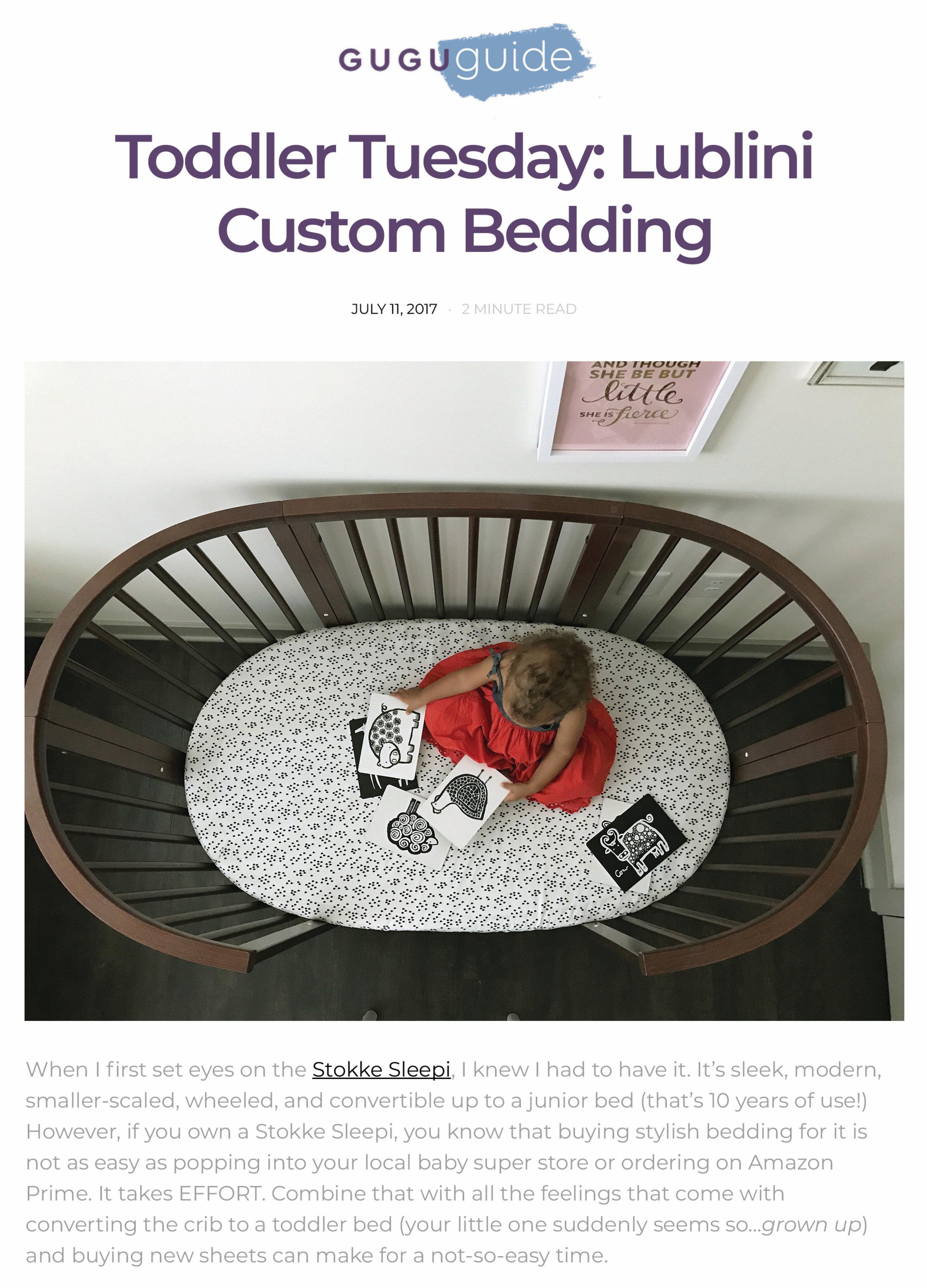 Lublini Custom Bedding - Gugu Guru-ToddlerTuesday.jpg