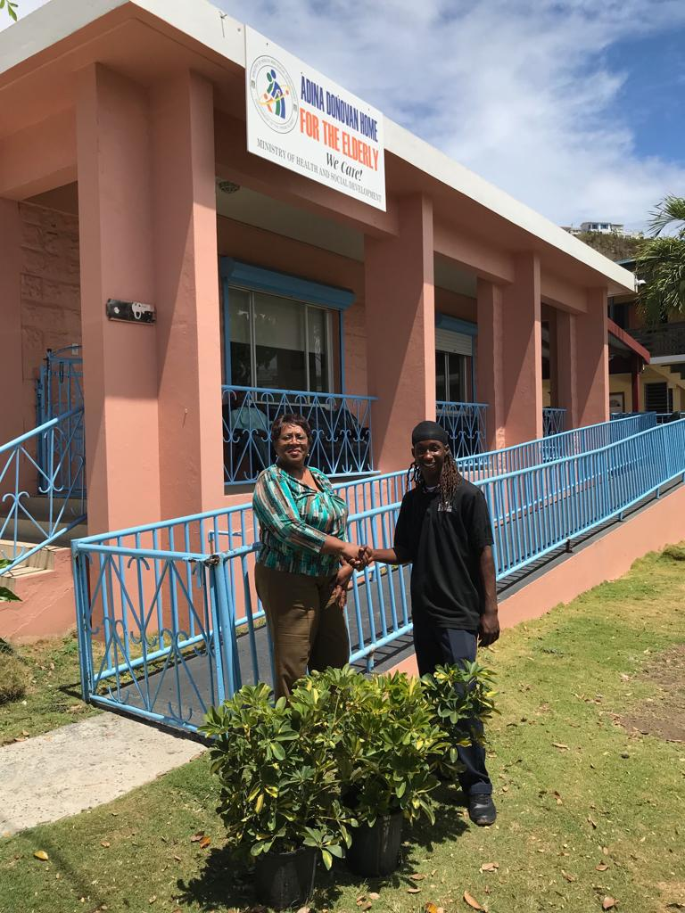 For Senior Citizens Month in the BVI, Seeds of Love in partnership with Groundworks donated three plants to the Adina Donovan Home for the Elderly