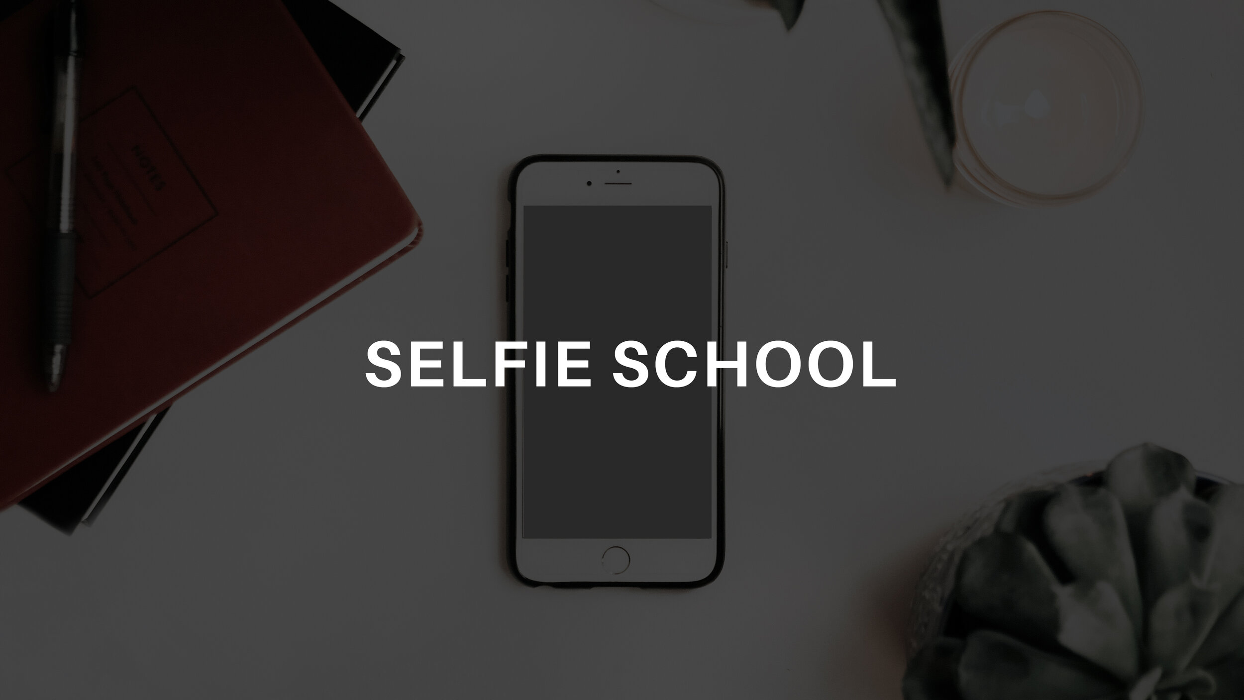 SELFIE SCHOOL  is where you'll learn how to lean into the vulnerability, build up your courage, learn to love yourself, and take selfies that rock!  With modules like Pose Like A Pro and Self(ie) Study, you'll never freak out again when a camera is pointed in your direction.