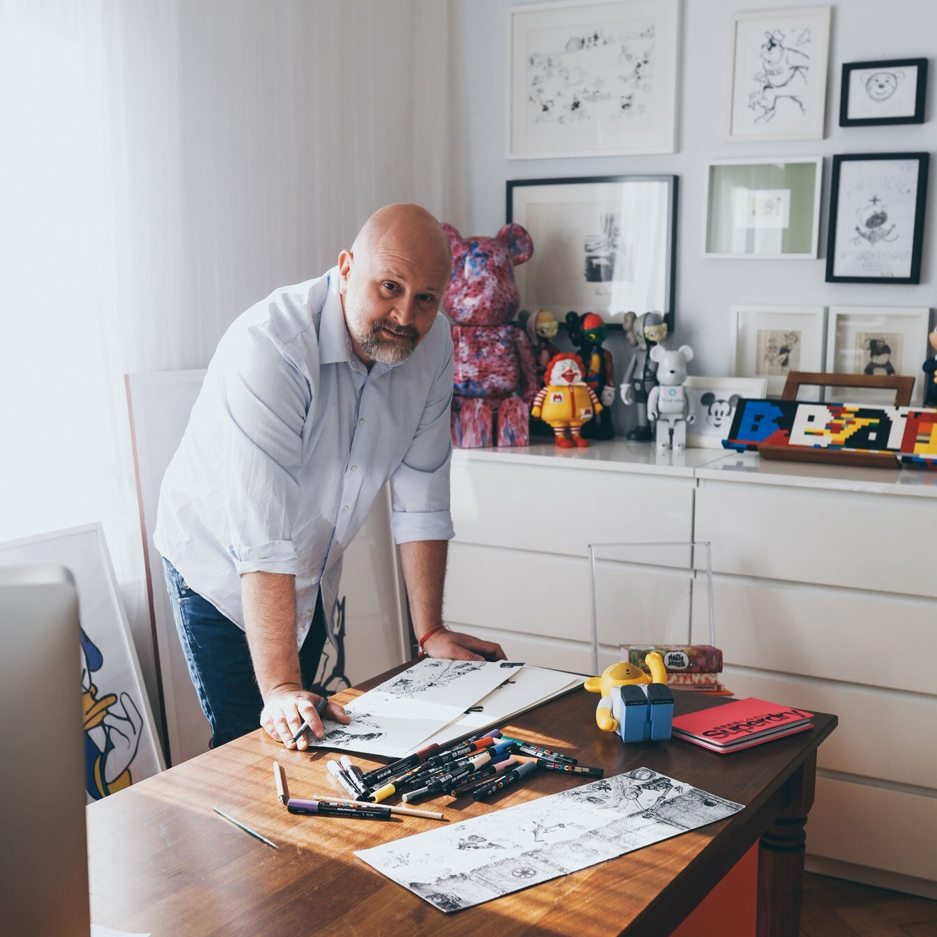 Say hi to Jean, - an artist who draws and makes figurines of cartoon characters with his own special twist. He leaned into the vulnerability, followed my Instagram strategies, and within 1 week he booked a well known gallery in Hong Kong to exhibit his artwork.