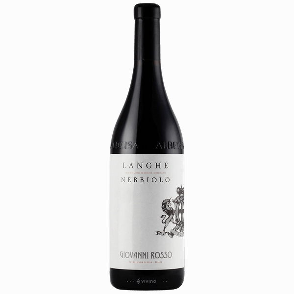 Giovanni RossoLanghe Nebbiolo - A popular wine, Giovanni Rosso is a small, family-owned producer in the heart of the Barolo commune of Serralunga d'Alba with their winery just north.