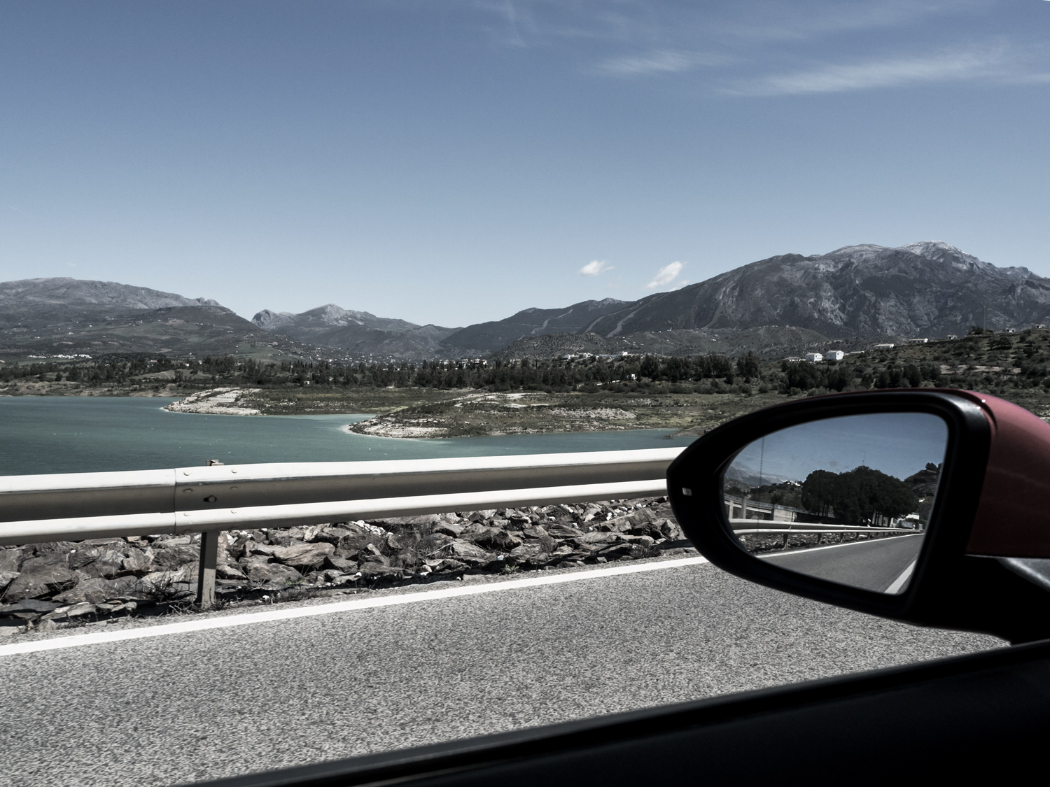 street, photography, car, mountains, lake, view, holidays