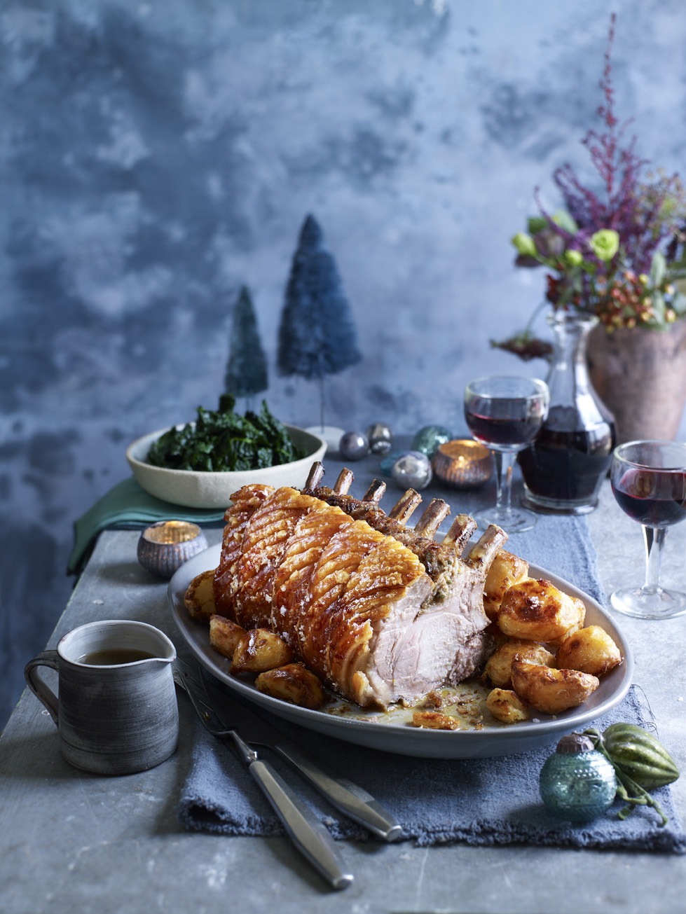 Stuffed Roast Rack of Pork Photograph Kate Whitaker Prop Styling Olivia Wardle
