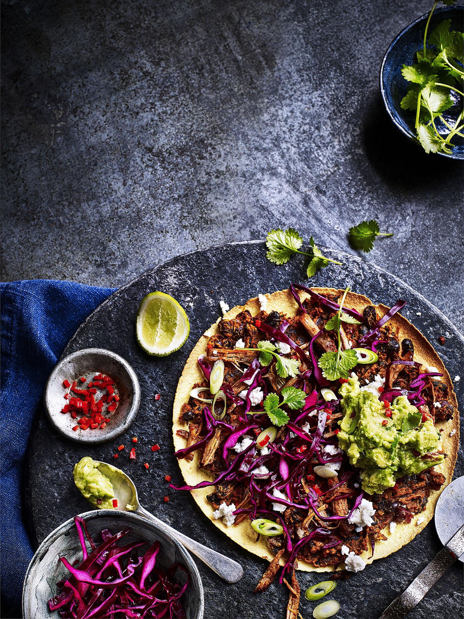 Mexican Pizza Photograph Kris Kirkham Prop Styling Davina Perkins Recipe Gabriella English