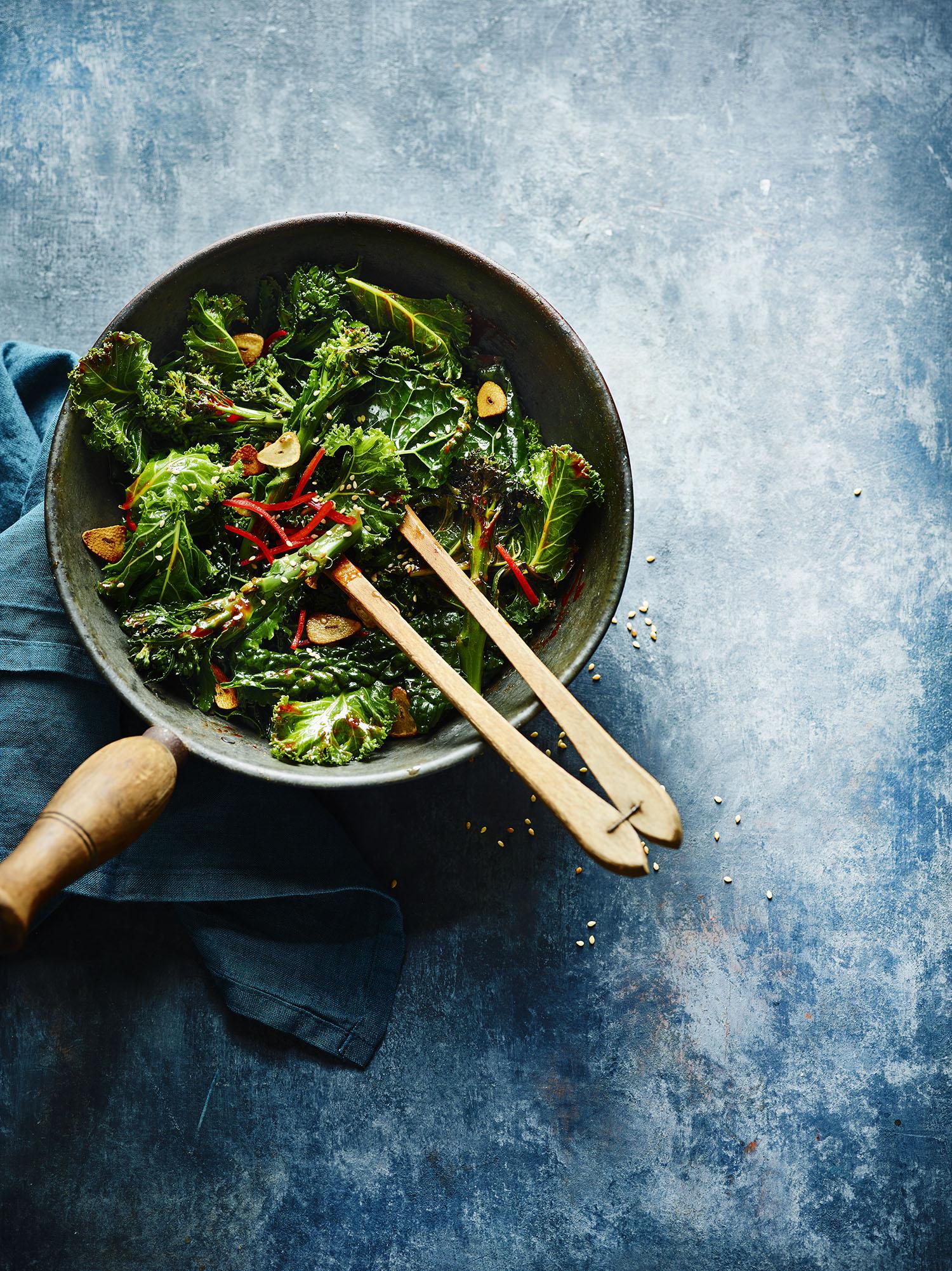 Korean Style Kale Photograph Maja Smend Prop Styling Olivia Wardle