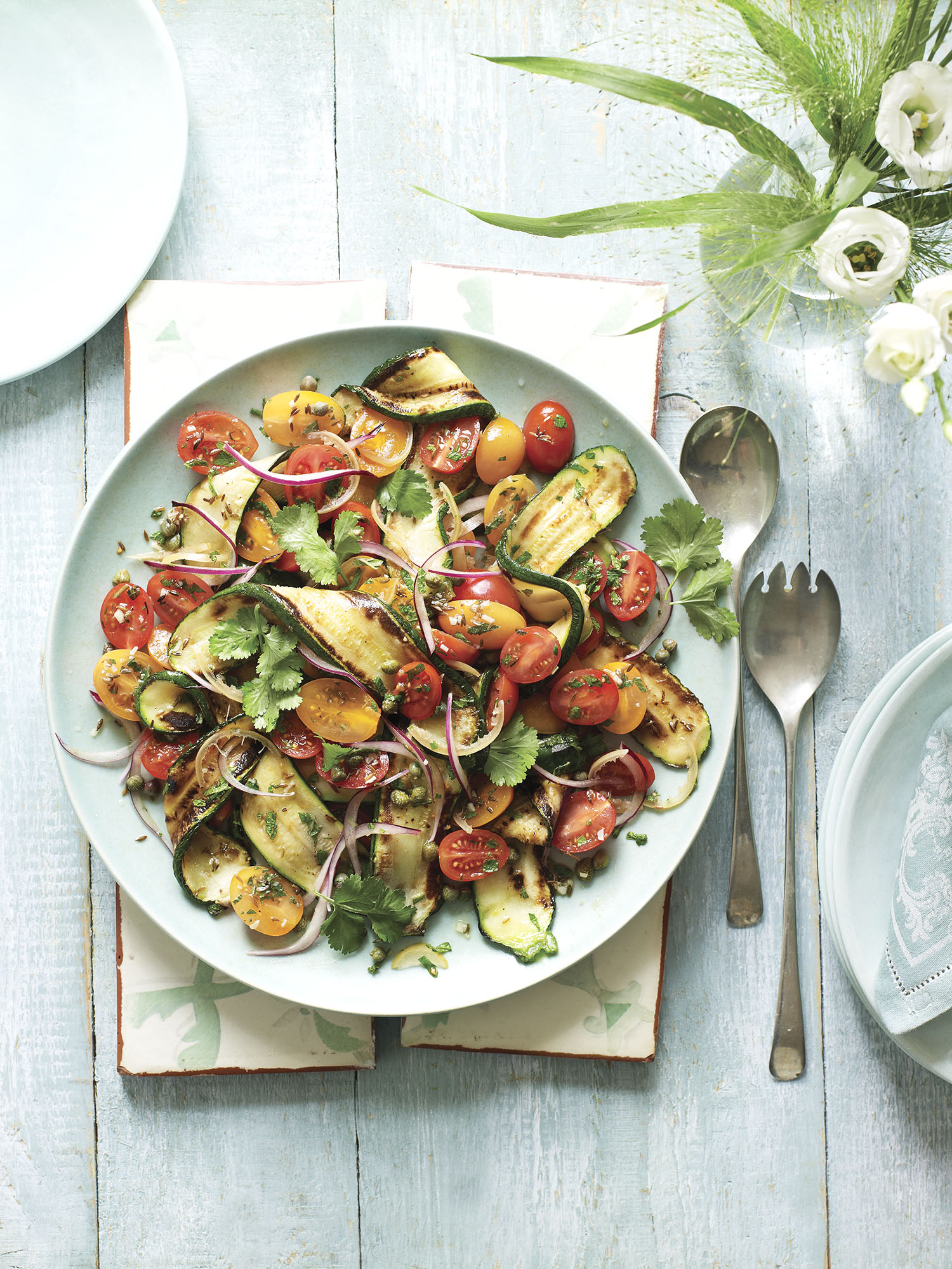 Courgette Salad Photograph Kate Whitaker Prop Styling Davina Perkins
