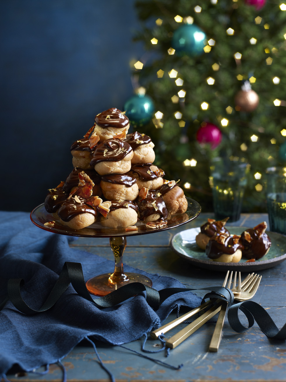 Tiramisu Profiteroles Photograph Kate Whitaker Prop Styling Olivia Wardle