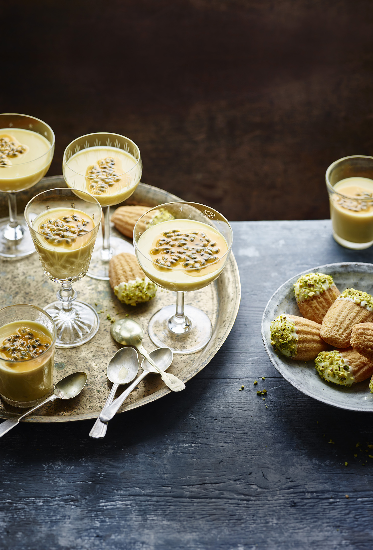 Passion Fruit Possets	Photograph Maja Smend Prop Styling Olivia Wardle