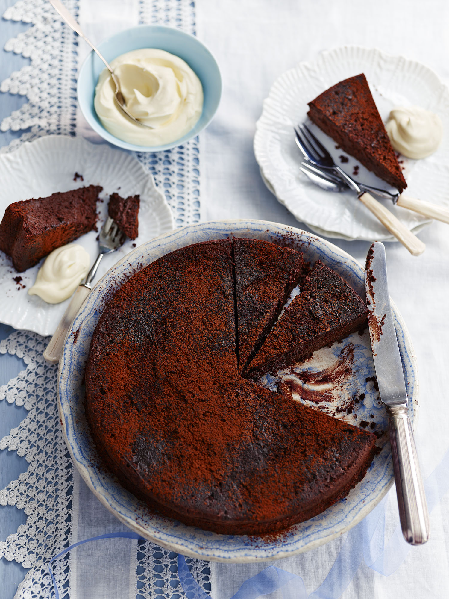 Pressed Chocolate Cake Photograph Gareth Morgans Prop Styling Tonia Shuttleworth Recipe The River Cafe