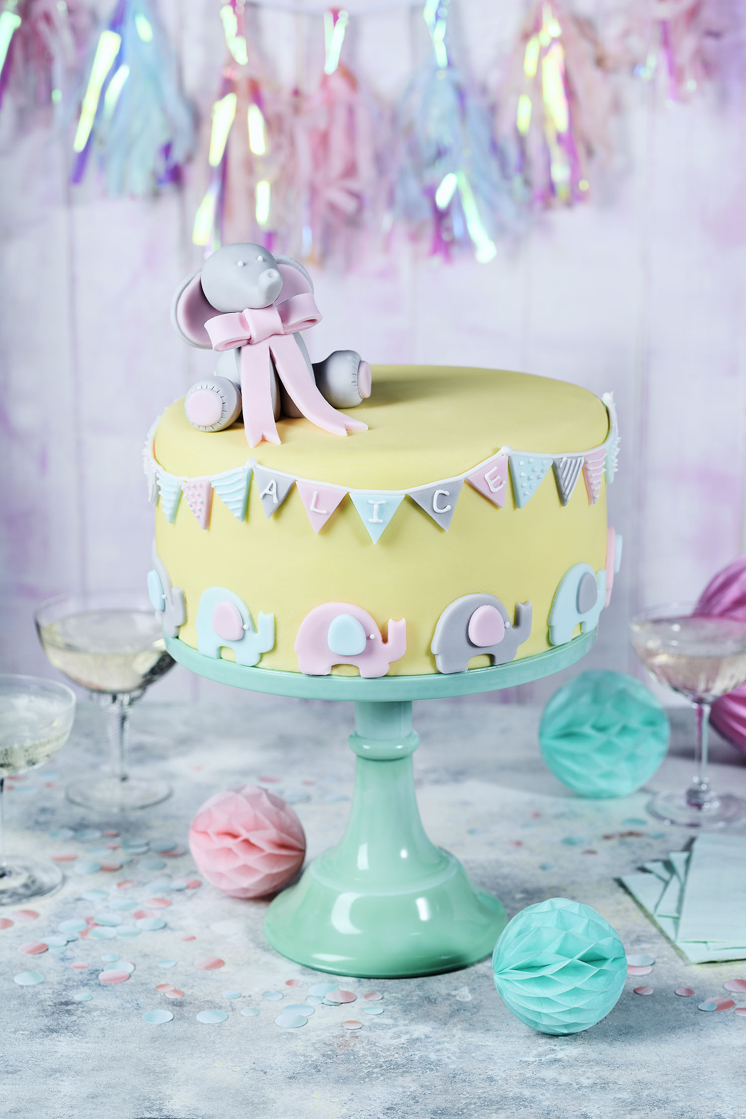 Christening Cake Photograph Charlie Richards Prop Styling Morag Farquhar