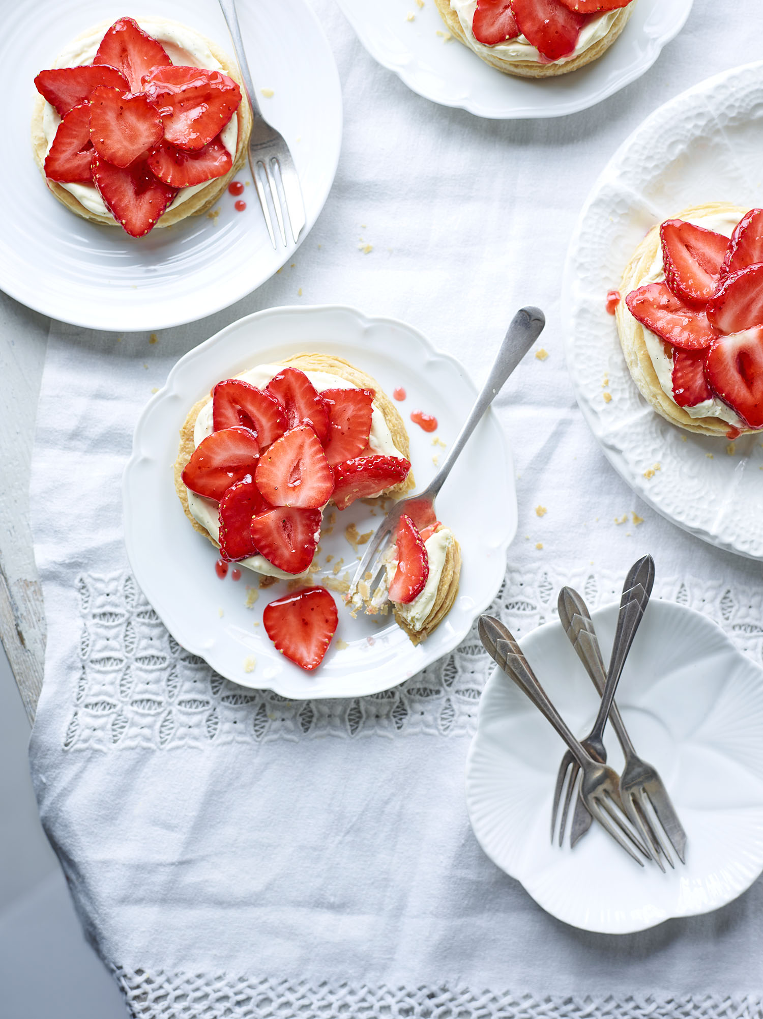 Cheat's Strawberry Tarts Photograph Maja Smend Prop Styling Olivia Wardle Recipe Madeline Burkitt