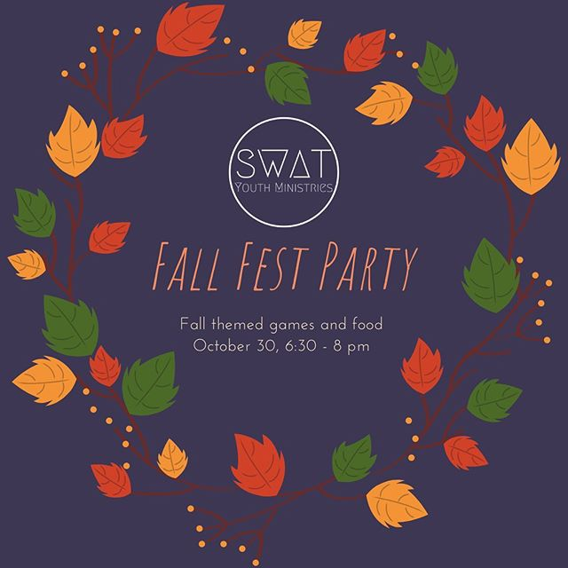 Fall fest party!! See y'all Wednesday ✌🏼