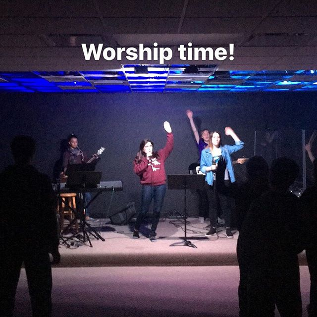 Worship was really cool last night 🙂