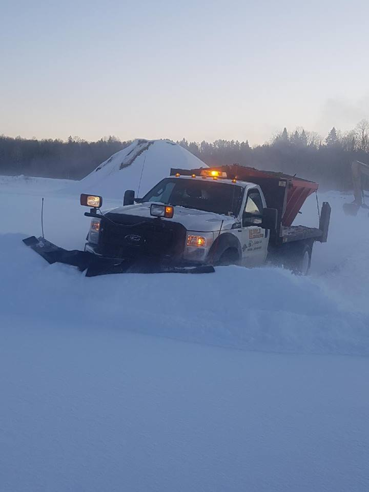 Snow Plowing removal sanding truck