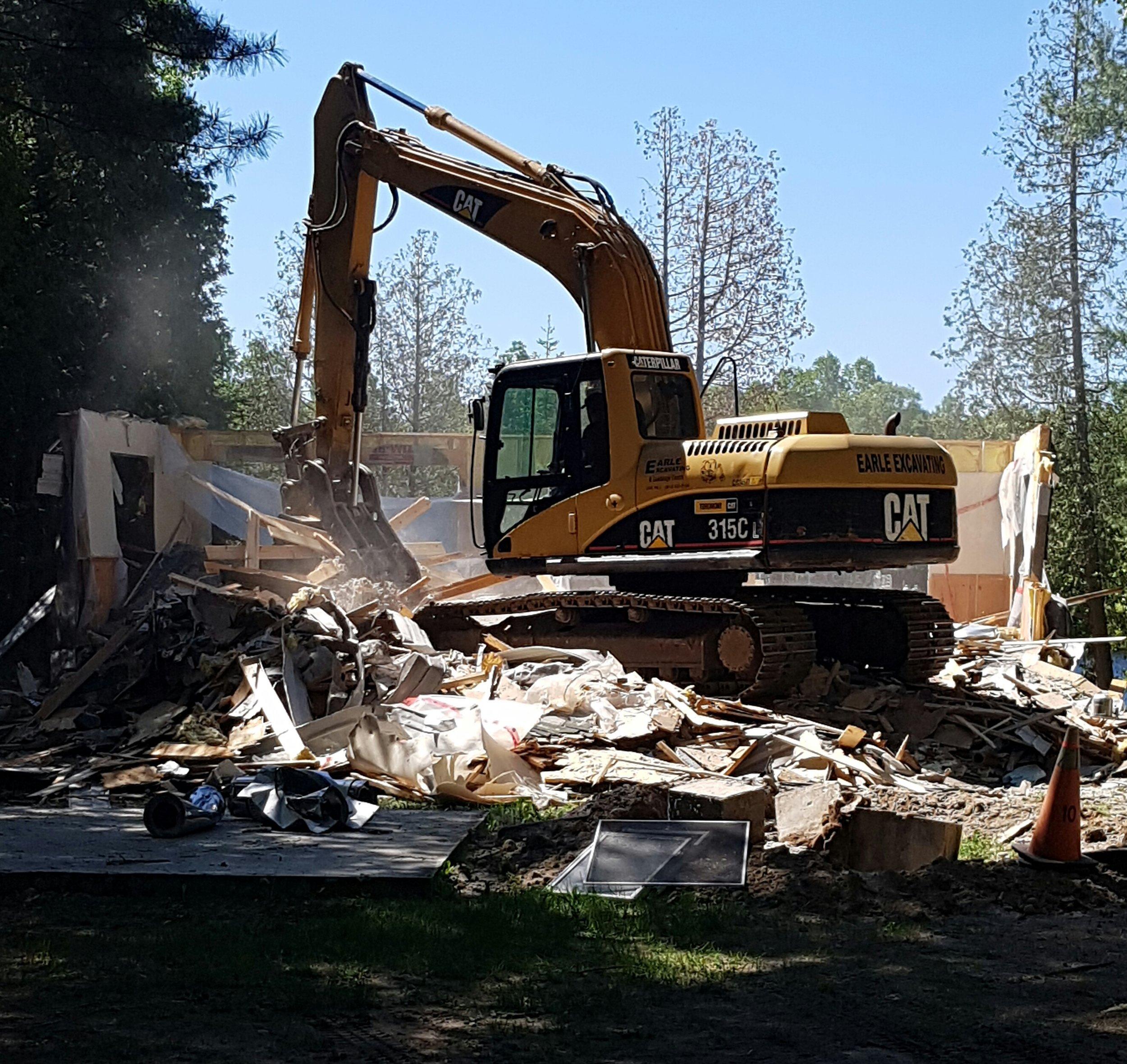 Licenced building demolition