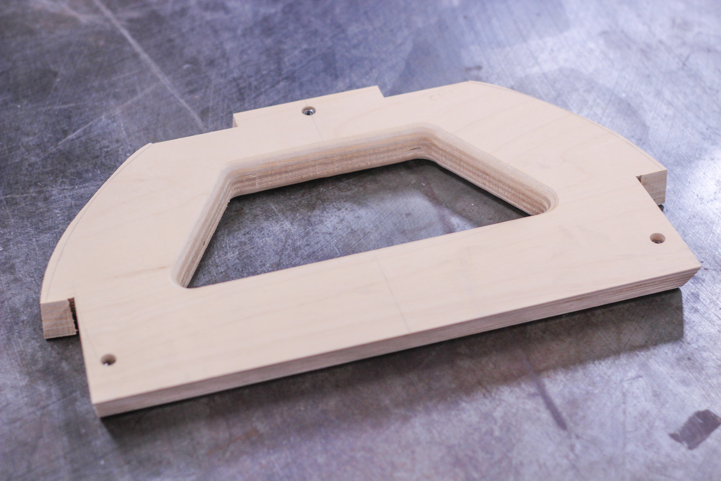 hardwood plywood instrument component