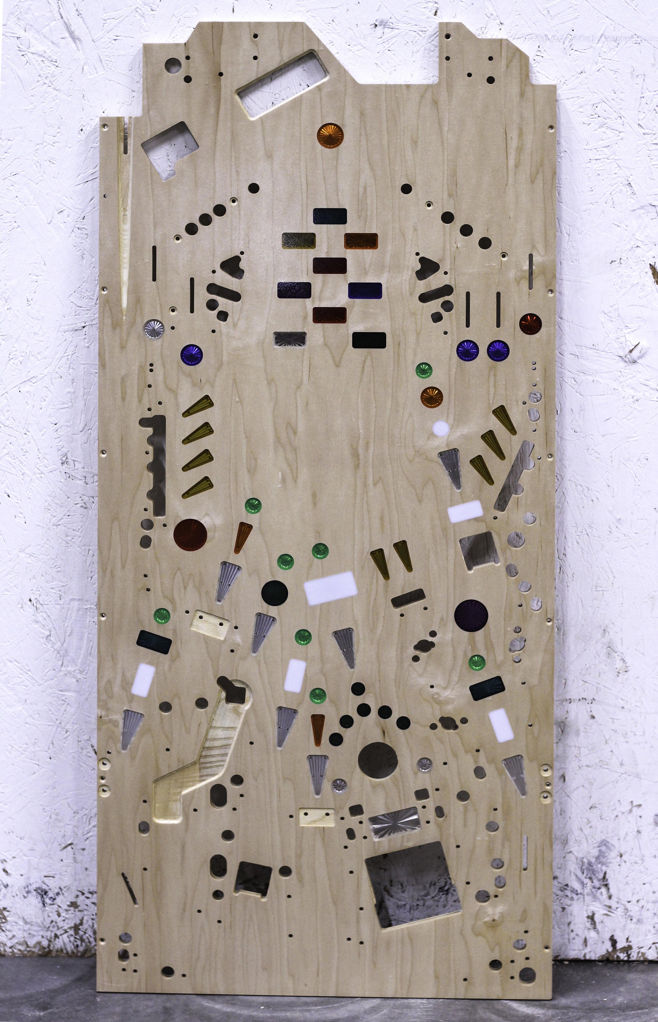 hardwood plywood pinball deck
