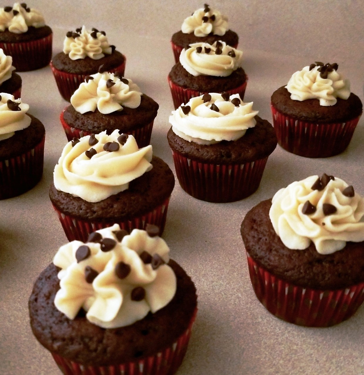 chocolate chip cookie dough cupcakes with cookie dough frosting