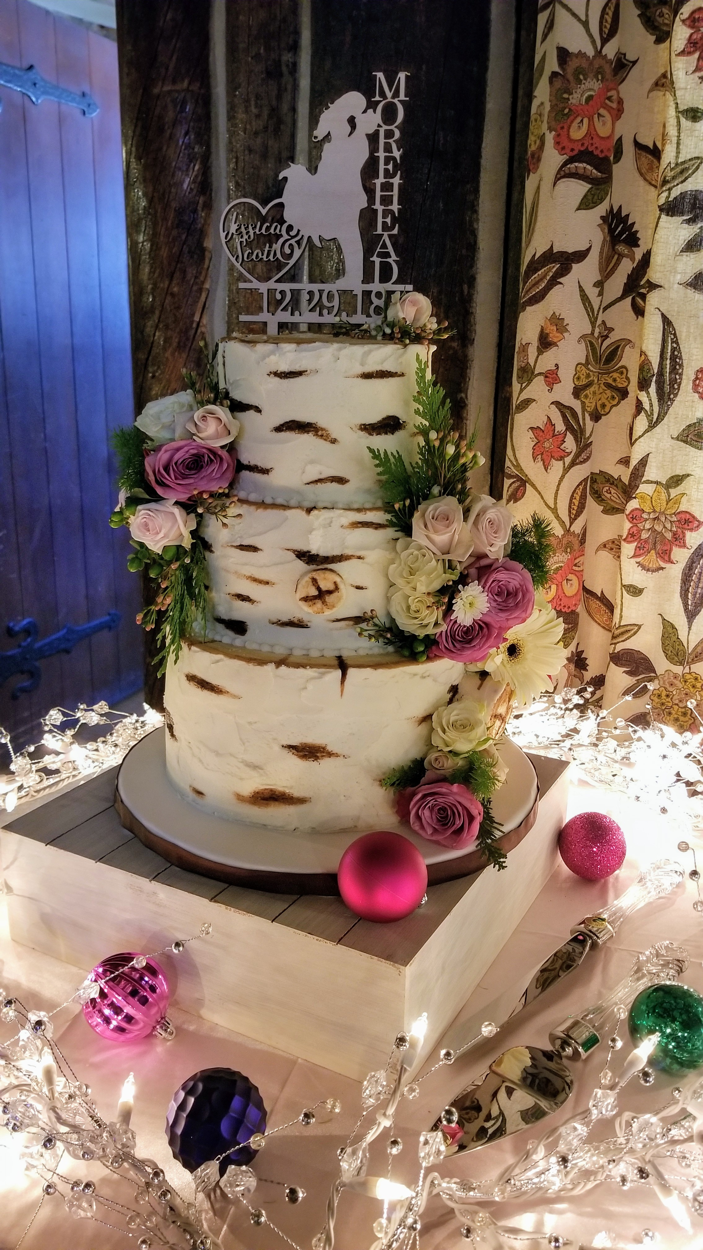 Birch Tree Wedding Cake by Cupcakes and Sweets LLC